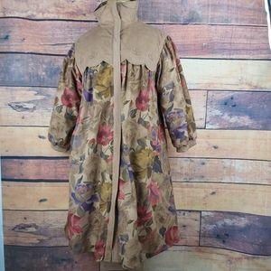 Jackets & Blazers - Vintage super original flowered belt coat